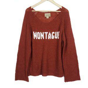 Wildfox White Label Montague Orange Knit Sweater